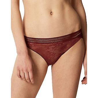 Maison Lejaby 16463-R0007 Women's Miss Lejaby Rust Brown Lace Knickers Panty Brief
