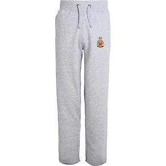 Army Catering Corps - Licensed British Army Embroidered Open Hem Sweatpants / Jogging Bottoms