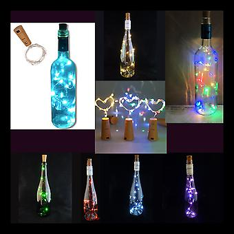 LED Cork with 15 LED Lights on a String, Bottle Stopper, Lamp, Party, Wedding, Event (Bottle NOT included)