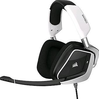 Corsair void Pro RGB surround analog 3,5 mm/USB Dolby 7,1 Gaming Headset med vit mikrofon