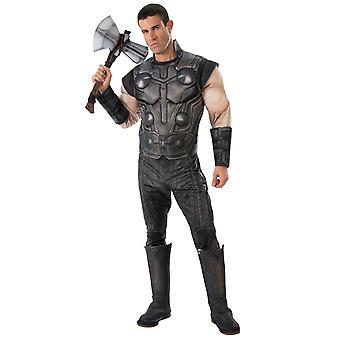 Thor Deluxe muskel Marvel Avengers Infinity War Endgame Super Hero Herre kostume