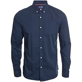 Superdry Classic Twill L/s Shirt Nordic Chrome Navy