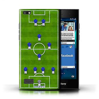 STUFF4 Case/Cover for Blackberry Leap/4-1-2-1-2/Blue/Football Formation