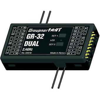Graupner 16-channel receiver 2,4 GHz FHSS with Connector system JR
