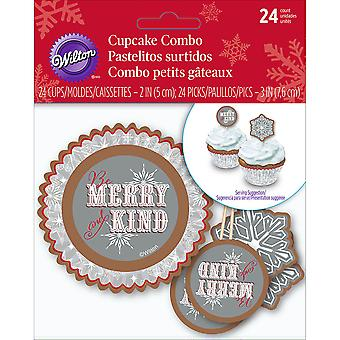 Cupcake Combo Pack-Snowflake Wishes 24/Pkg W7210