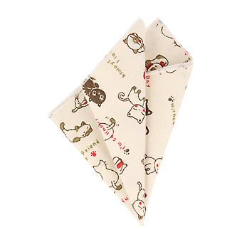 Snobbop handkerchief Hanky Cavalier cloth cats white