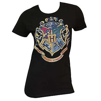Women's Harry Potter Crest zwart T-Shirt