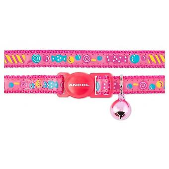 Safety Buckle Cat Collar Sweeties Pink (Pack of 3)