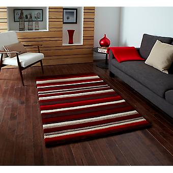 Quality Super Soft Rich Red Striped Acrylic Area Rug 2022 - Phoenix