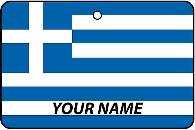 Greece Flag Personalised Car Air Freshener