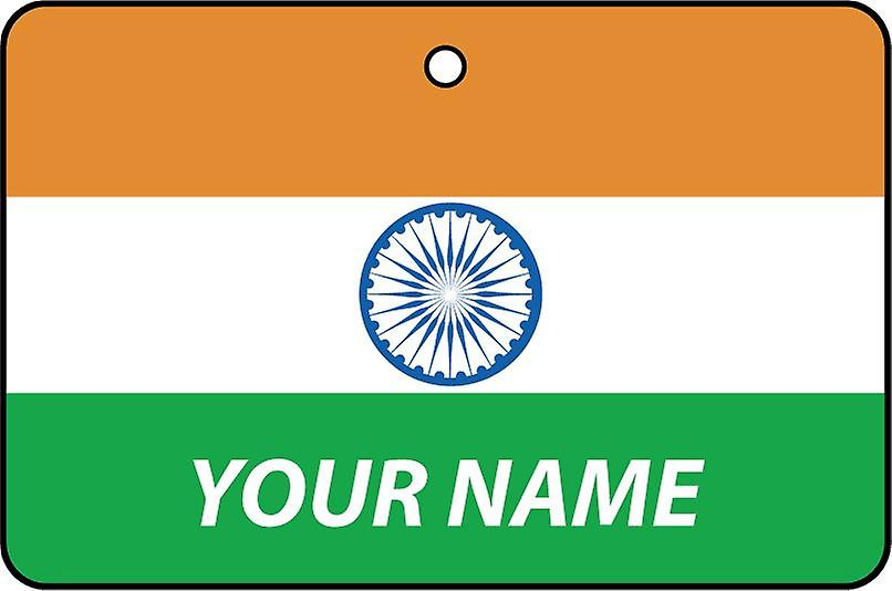 India Flag Personalised Car Air Freshener