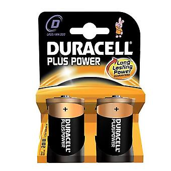 Duracell Plus Alkaline 2 Batteries D Size - Pack of 10 (20 Batteries in total) MN1300PLUS-B2