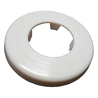 White Rosette Collar Rose Cover for Pipe Holes Gaps Hiding 40mm Diameter