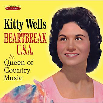Kitty Wells - Heartbreak U. S. a. /Queen af countrymusik [CD] USA importerer