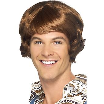 Disco mullet wig Brown