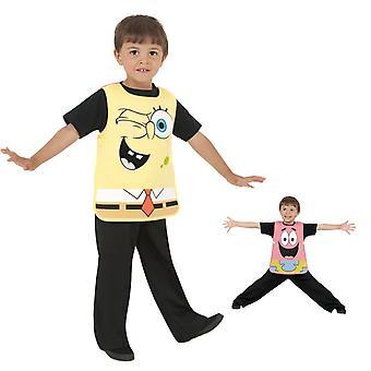Губка Боб Патрик 2 в 1 костюм дети костюм изменения