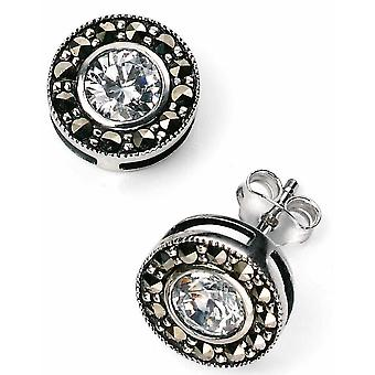 Argento 925 zirconi e orecchino di Marcasite