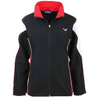 VICTOR training jacket female team badminton training jacket black 3711