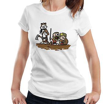 Calvin og Hobbes vikingerne Ragnar Lothbrok Women's T-Shirt