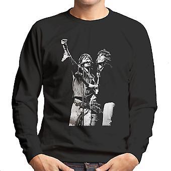 Die Rolling Stones Mick Jagger Keith Richards Rotterdam 1973 Herren Sweatshirt