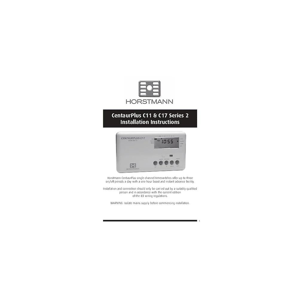 Horstmann CentaurPlus 2 Channel Time Clock 7 Day