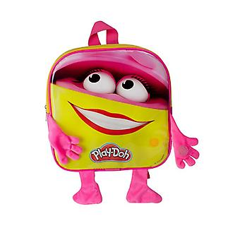 Play Dough Girls Backpack with 12 Creative Accessories Pink/Yellow (CPDO091)
