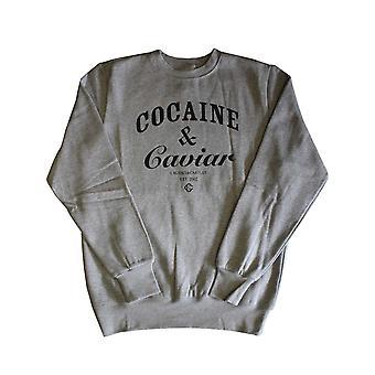 Oplichters & kastelen cocaïne & Caviar Sweatshirt Heather Grey