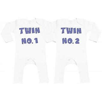 Verwend rotte Twin No.1 Twin No.2 leggings Romper Twins babyset