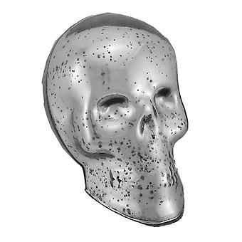 تمثال الجمجمة زجاج الزئبق الفضي