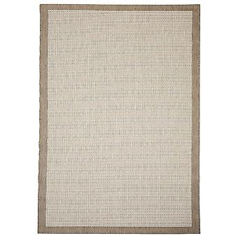 In - and outdoor carpet balcony / living room of Essentials chrome beige 135 x 190 cm