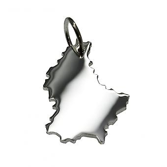 Trailer map Luxembourg beads in solid 925 Silver