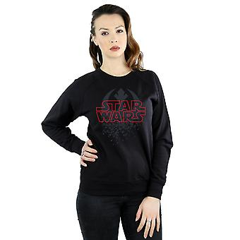 Star Wars Women's The Last Jedi Shattered Emblem Sweatshirt