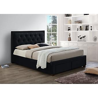 Birlea Woodbury Black Velvet Double Bed