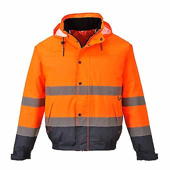 sUw - Hi-Vis Safety Workwear Two Tone Bomber Jacket