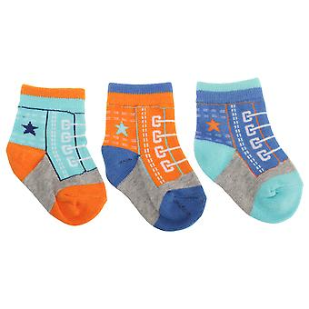 Baby Boys Cotton Rich Trainers And Football Design Socks (Pack Of 3)