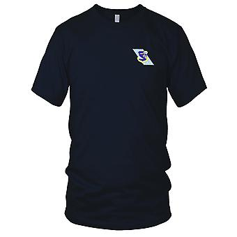 USAF Airforce - Strategic Air Command Banner Embroidered Patch - Mens T Shirt