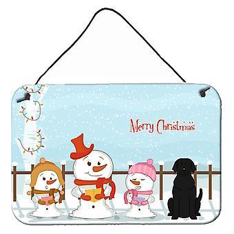 God jul Carolers svart Labrador vägg eller dörr hängande utskrifter