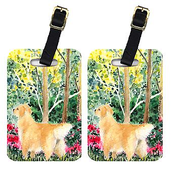 Carolines Treasures  SS8886BT Pair of 2 Golden Retriever Luggage Tags