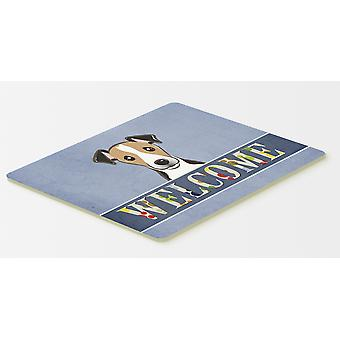 Jack Russell Terrier Welcome Kitchen or Bath Mat 20x30