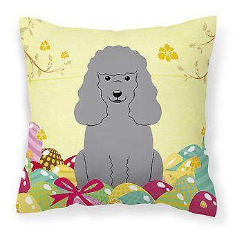 Påskeegg Poodle sølv stoff Dekorative Pillow