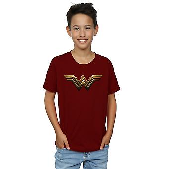 DC Comics Boys Justice League Movie Wonder Woman Emblem T-Shirt