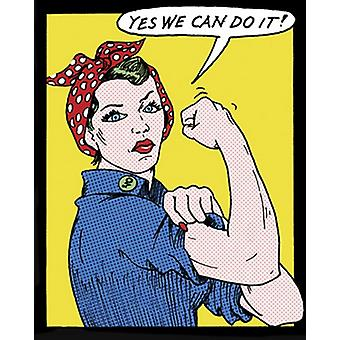 Yes We Can Do It Poster Print by Tee Buzz (15 x 19)
