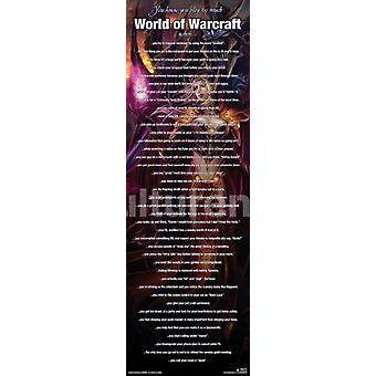 World Of Warcraft Play Too Much Poster Poster Print