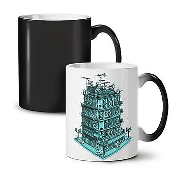 Sound Speaker House NEW Black Colour Changing Tea Coffee Ceramic Mug 11 oz | Wellcoda