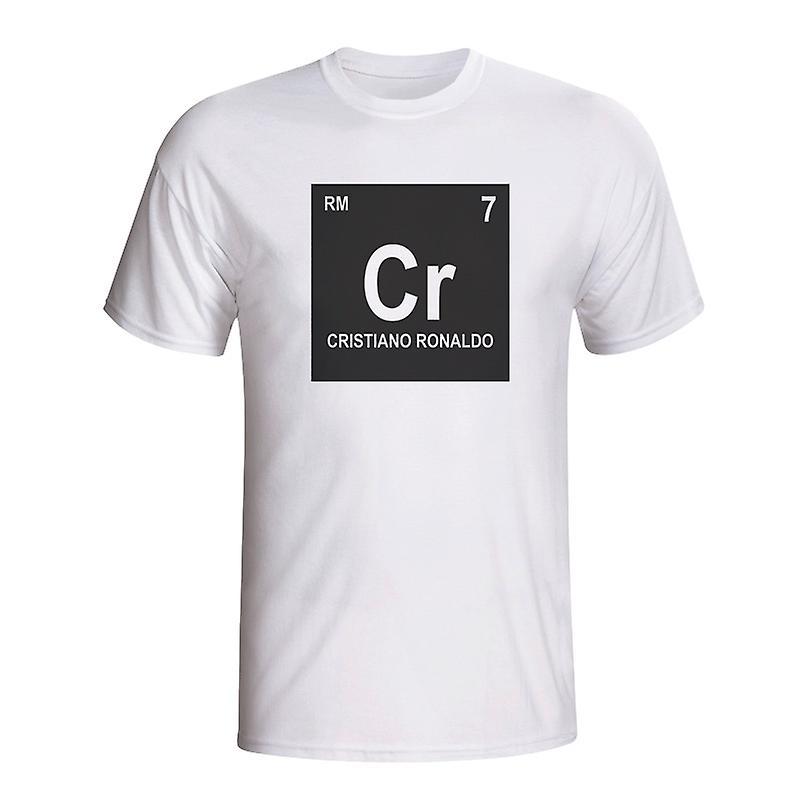 Cristiano Ronaldo Real Madrid Periodic Table T-shirt (white) - Kids