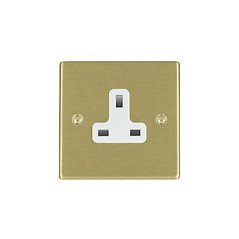 Hamilton Litestat Hartland Satin messing 1g 13A Unswitched Socket WH
