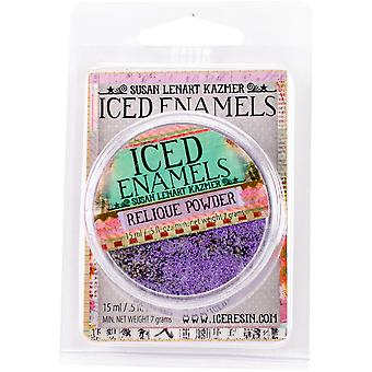 Iced Enamels Relique Powder .5oz-Amethyst SLK-1002