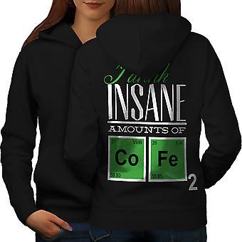 Coffee Chemistry Geek Women BlackHoodie Back | Wellcoda