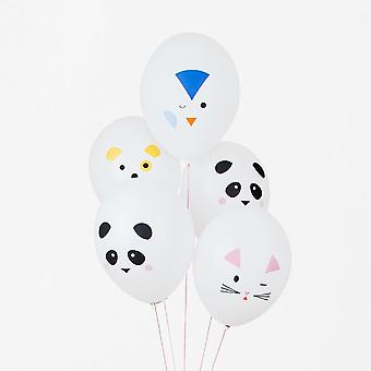 Mini Animals - Balloons Pack of 5 - Birthday Party Decoration