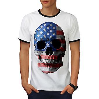 Schedel vlag Amerikaanse vs mannen wit / BlackRinger T-shirt | Wellcoda